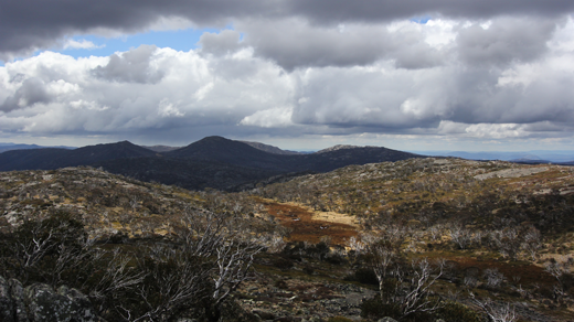 A high view across the Namadgi National Park